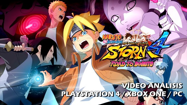 Cartel Naruto Shippuden Ultimate Ninja Storm 4 Road to Boruto