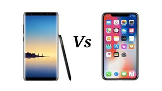 note8 vs iPhone X