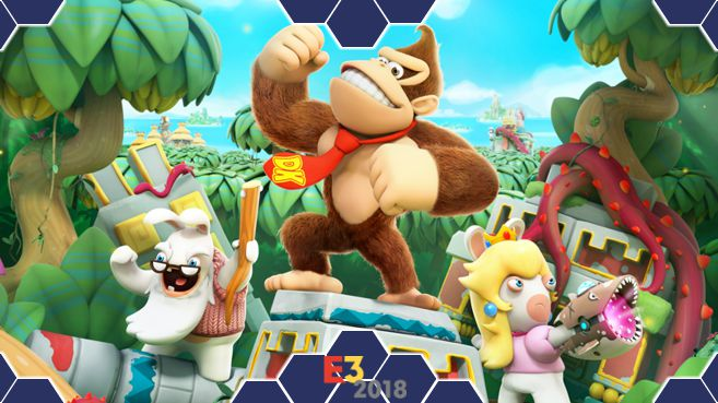 Mario + Rabbids Kingdom Battle Donkey Kong Adventure E3 Principal
