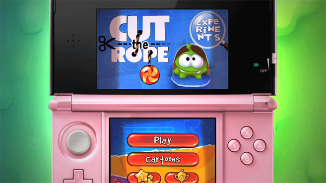 Activision lleva la saga Cut the Rope a Nintendo 3DS