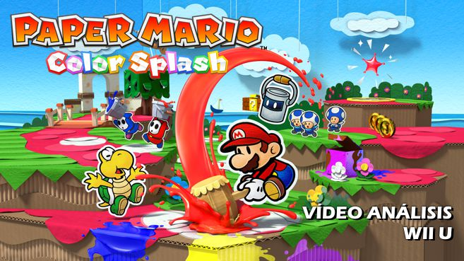 Cartel Paper Mario Color Splash