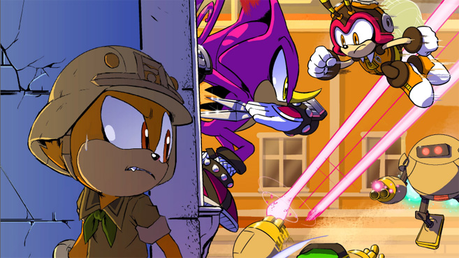 Sonic Forces cómic digital
