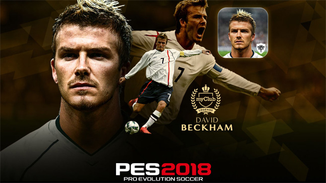 KONAMI anuncia el lanzamiento de PES 2018 Mobile con David Beckham