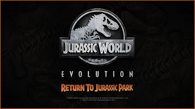 Jurassic World Evolution - Return to Jurassic Park